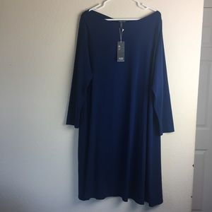 Eileen Fisher Jersey Long Sleeve Dress.